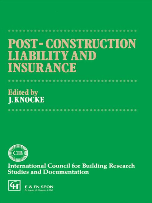 Post-Construction Liability and Insurance book cover