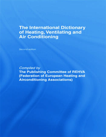International Dictionary of Heating, Ventilating and Air Conditioning book cover