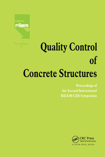 Quality Control of Concrete Structures Proceedings of the Second International RILEM/CEB Symposium book cover