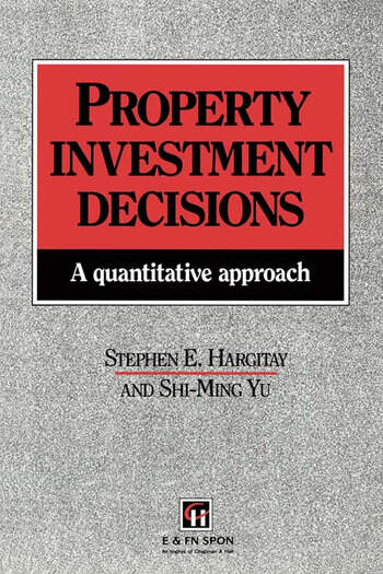 Property Investment Decisions A quantitative approach book cover
