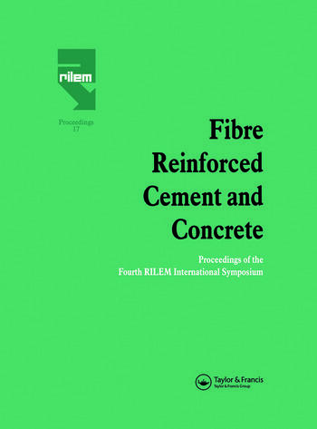 Fibre Reinforced Cement and Concrete Proceedings of the Fourth RILEM International Symposium book cover