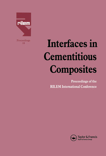 Interfaces in Cementitious Composites book cover