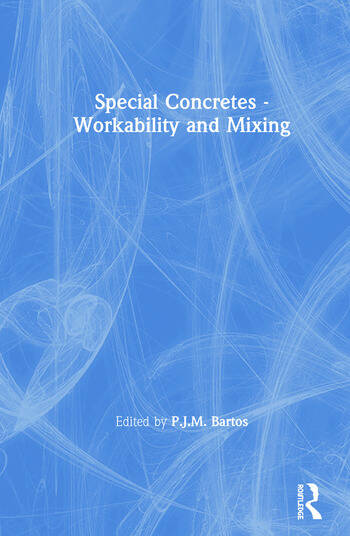 Special Concretes - Workability and Mixing book cover