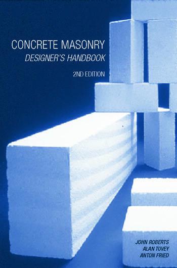 Concrete Masonry Designer's Handbook book cover