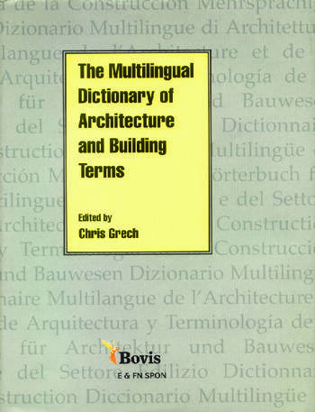 Multilingual Dictionary of Architecture and Building Terms book cover