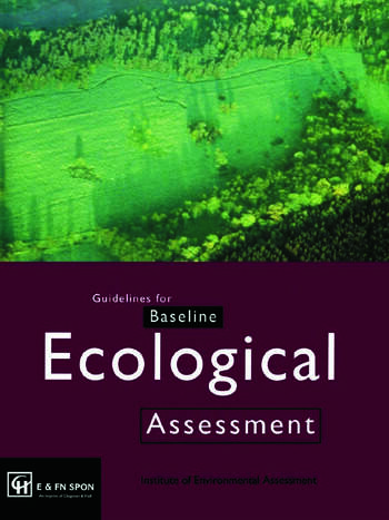 Guidelines for Baseline Ecological Assessment book cover