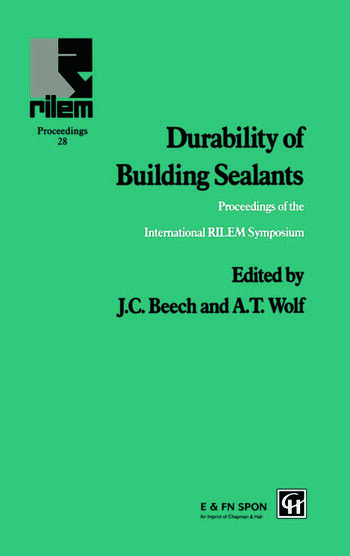 Durability of Building Sealants book cover
