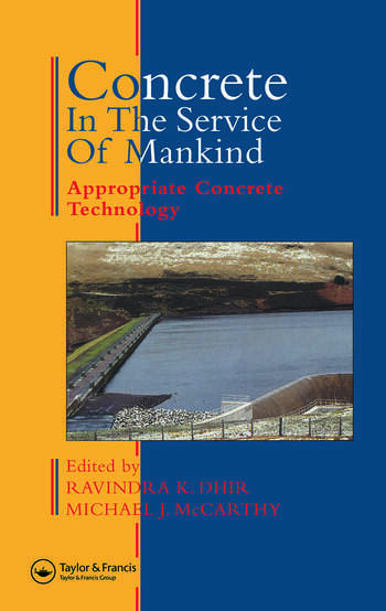 Concrete in the Service of Mankind Appropriate concrete technology book cover