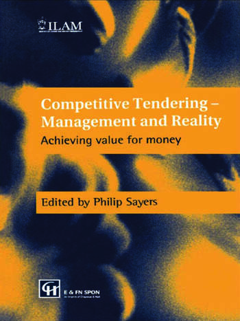 Competitive Tendering - Management and Reality Achieving value for money book cover