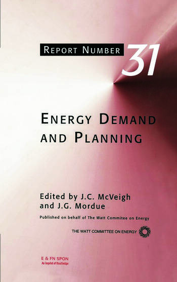 Energy Demand and Planning book cover