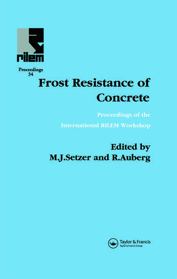 Frost Resistance of Concrete book cover