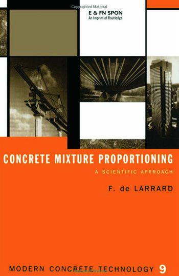 Concrete Mixture Proportioning A Scientific Approach book cover