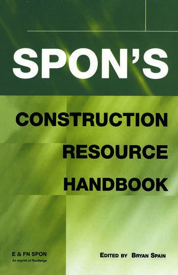 Spon's Construction Resource Handbook book cover