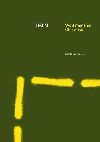 HAPM Workmanship Checklists book cover
