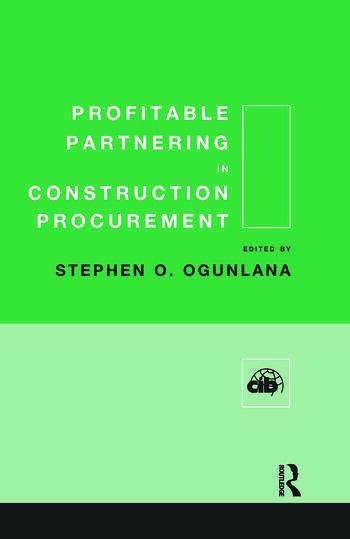 Profitable Partnering in Construction Procurement book cover
