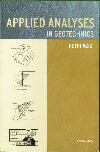Applied Analyses in Geotechnics book cover