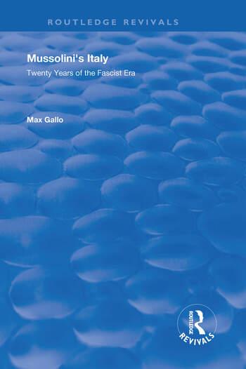 Mussolini's Italy Twenty Years of the Fascist Era book cover