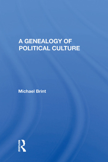 A Genealogy Of Political Culture book cover