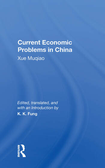 Current Economic Problems In China book cover