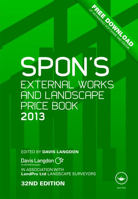 Spon's External Works and Landscape Price Book 2013 book cover