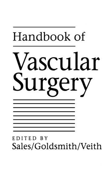 Handbook of Vascular Surgery book cover