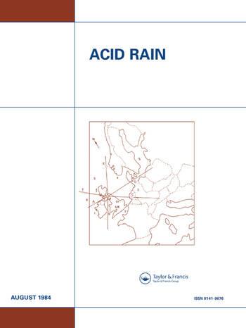 Acid Rain Report number 14 book cover