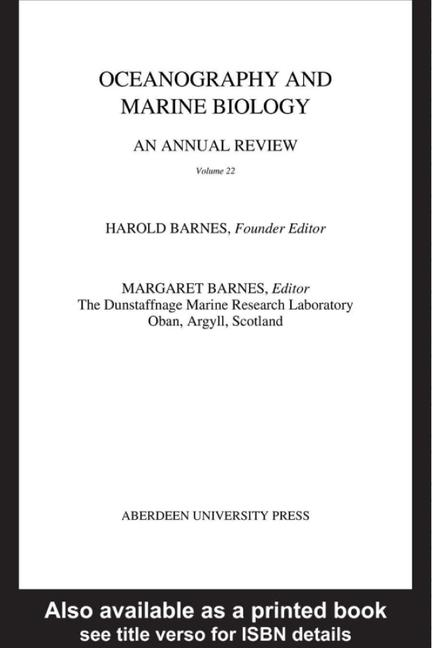 Oceanography and Marine Biology, An Annual Review, Volume 22 book cover