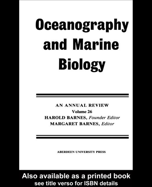Oceanography and Marine Biology, An Annual Review book cover