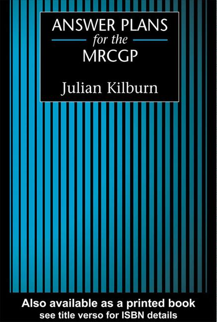 Answer Plans for the MRCGP book cover