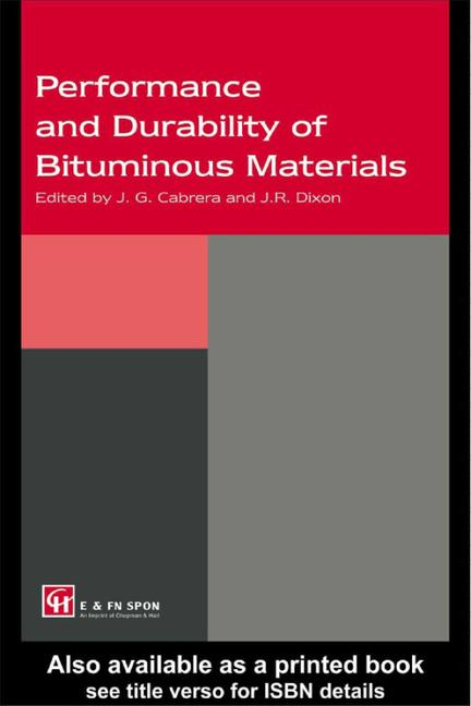 Performance and Durability of Bituminous Materials book cover