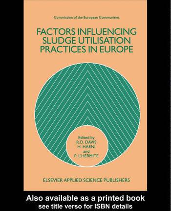 Factors Influencing Sludge Utilization Practices in Europe book cover