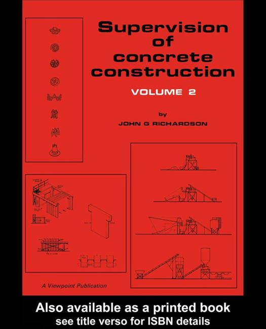 Supervision of Concrete Construction 2 book cover