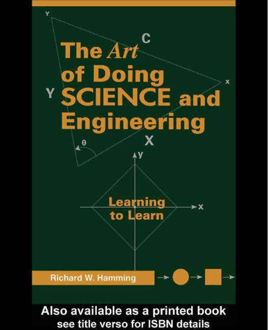 Art of Doing Science and Engineering Learning to Learn book cover