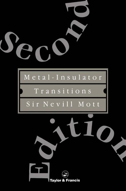 Metal-Insulator Transitions book cover
