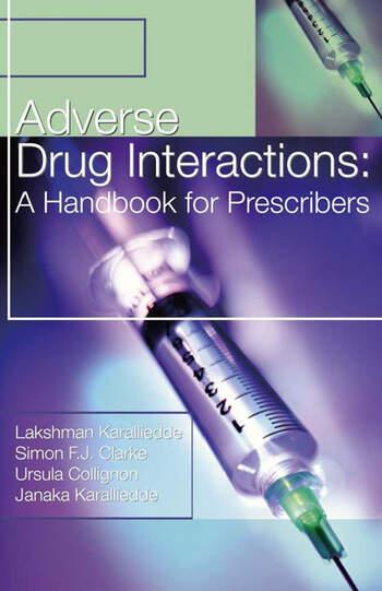 Adverse Drug Interactions: A Handbook for Prescribers book cover