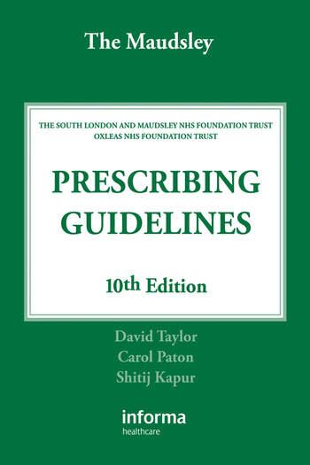The Maudsley Prescribing Guidelines book cover