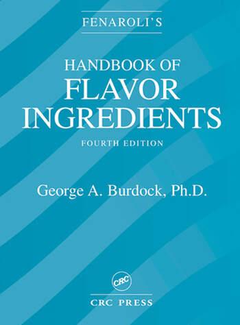 Fenaroli's Handbook of Flavor Ingredients book cover