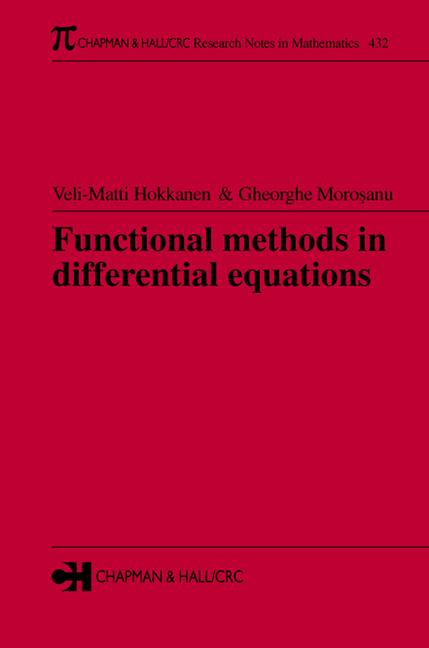 Functional Methods in Differential Equations book cover