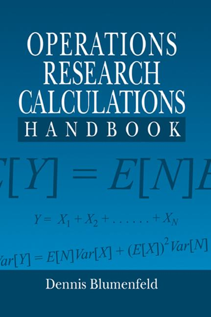 Operations Research Calculations Handbook book cover