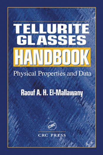 Tellurite Glasses Handbook Physical Properties and Data book cover