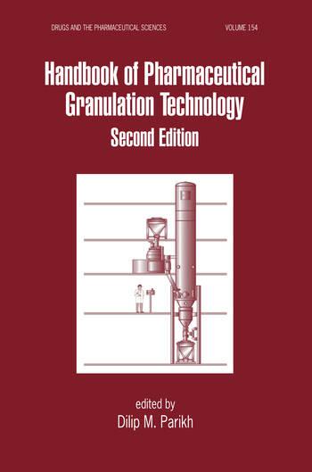 Handbook of Pharmaceutical Granulation Technology book cover