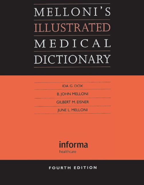 Melloni's Illustrated Medical Dictionary book cover