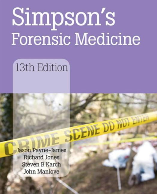 Simpson's Forensic Medicine book cover