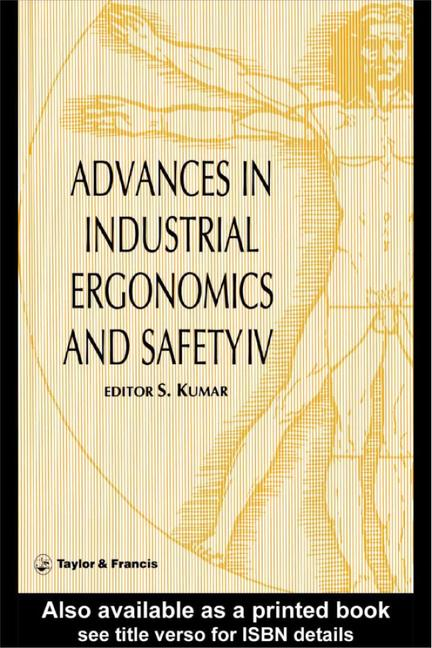 Advances In Industrial Ergonomics And Safety IV book cover