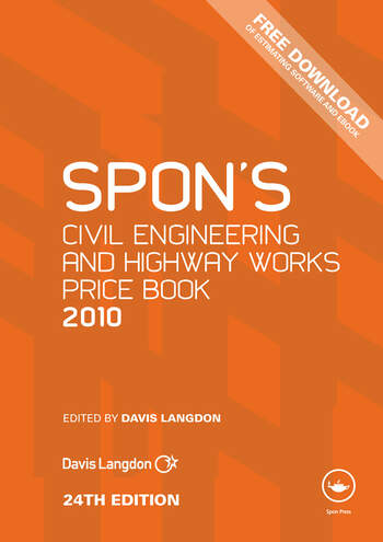Spon's Civil Engineering and Highway Works Price Book 2010 book cover