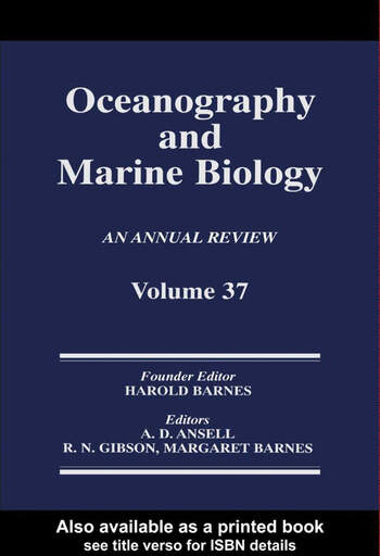 Oceanography and Marine Biology, An Annual Review, Volume 37 book cover