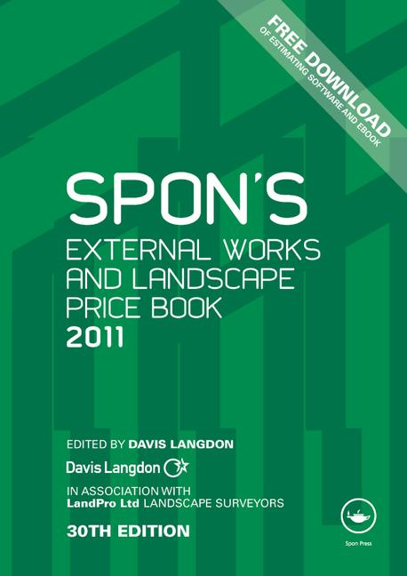 Spon's External Works and Landscape Price Book 2011 book cover