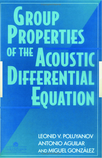 Group Properties Of The Acoustic Differential Equation book cover