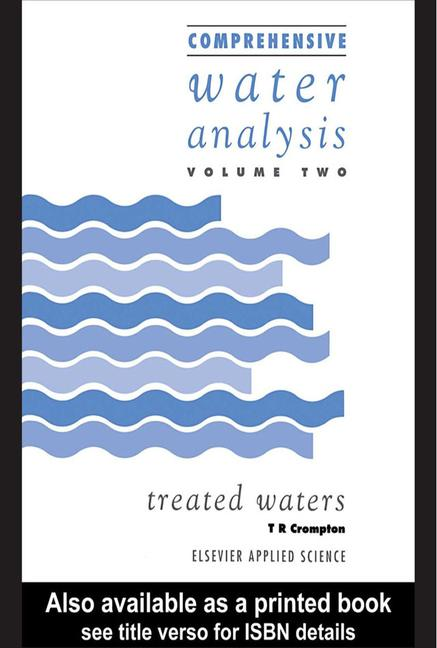 Comprehensive Water Analysis Two volume set book cover