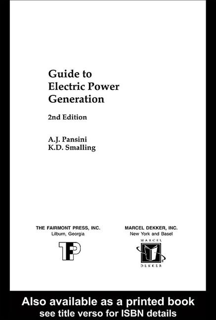 Guide to Electric Power Generation book cover